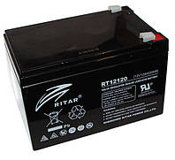 Батарея для ИБП 12В 12Ач AGM Ritar RT12120B Black Case / 12V 12.0Ah  / 151х98х101мм / Q4