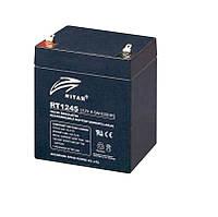 Аккумулятор для ИБП 12В 4.5Ач AGM Ritar RT1245B / 12V 4.5Ah / 90х70х107 мм