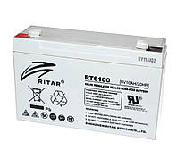 Батарея для ИБП 6В 10Ач AGM Ritar RT6100, 6V 10Ah, 151х50х100 мм