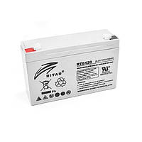 Аккумулятор для ИБП 6В 12Ач AGM Ritar RT6120A / 6V 12Ah / 151х50х101 мм