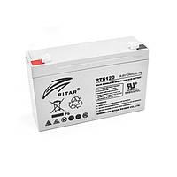 Батарея для ИБП 6В 12Ач AGM Ritar RT6120A / 6V 12Ah / 151х50х101 мм
