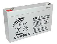 Батарея для ИБП 6В 7.2Ач AGM Ritar RT672 RT672 / 6V 7.2Ah / 151х34х94мм