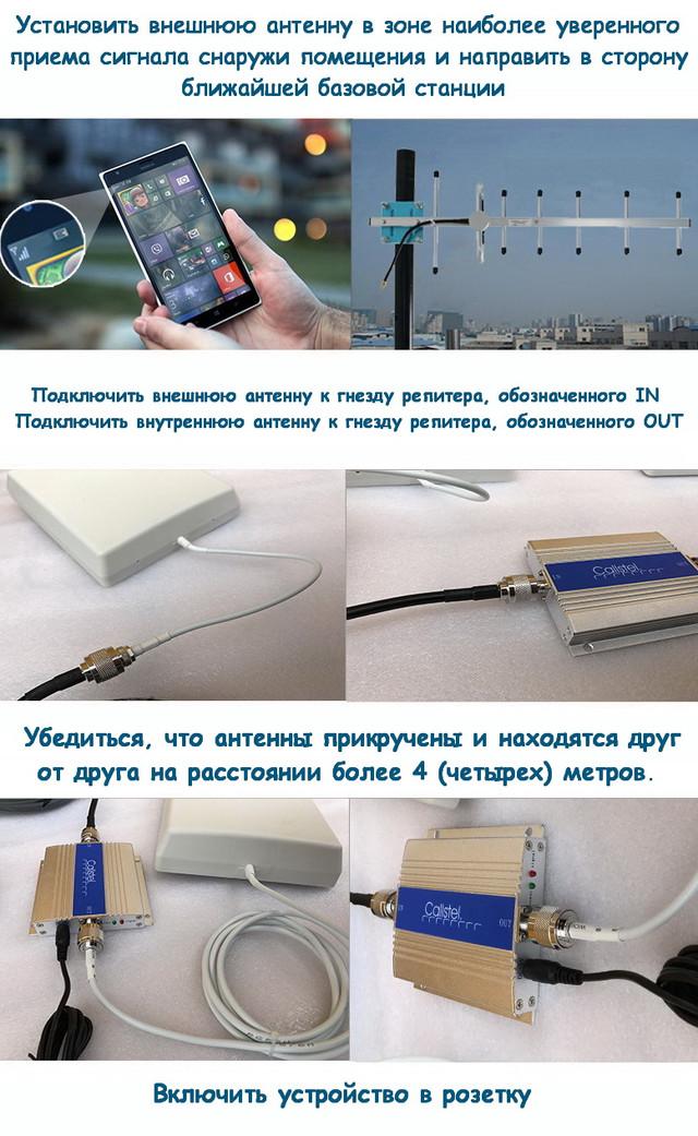 Пошаговая фотоинструкция по установке GSM репитера
