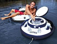 Плавучий охладитель, термо-резервуар для напитков, надувной плавающий холодильник, мини-бар Intex 58820