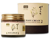 Антивозрастной крем для лица красный женьшень Mayu SULSURYUN Red Ginseng Horse Oil Facial Cream 70 мл
