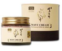 Антивозрастной крем для лица красный женьшень Mayu SULSURYUN Red Ginseng Horse Oil Facial Cream 70 мл, фото 1