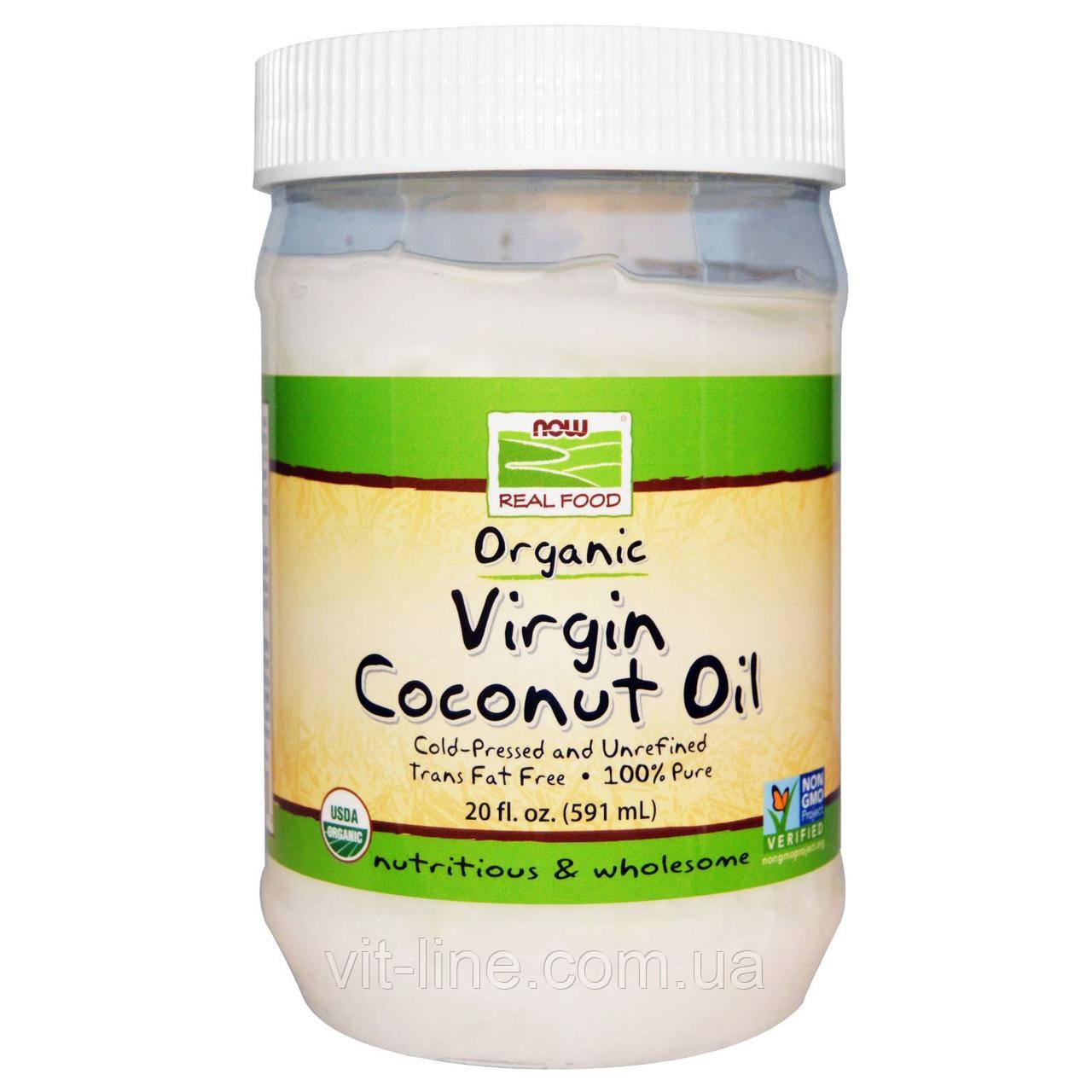 Now Foods, Органическое натуральное кокосовое масло (591 мл)