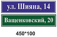 Таблички на будинок з номером