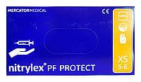 Перчатки Nitrylex PF Protect (нитриловые текстурированные) XS (5-6) - 100 шт. (50 пар)