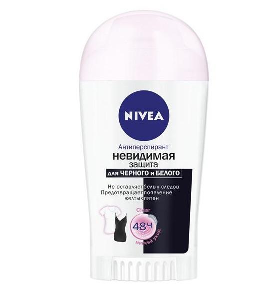 Дезодорант-антиперспирант Nivea Невидимая защита для черного и белого Чистый, 40мл