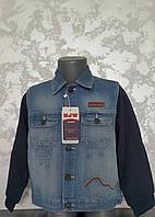 Джинсовый пиджак для мальчиков 104,110,116 роста