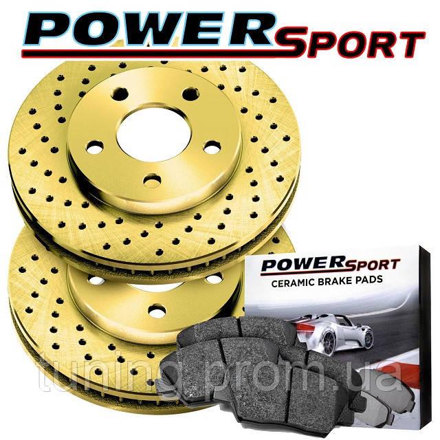 Комплект задний дисков и колодок PowerSport для Nissan Leaf 2011-2017