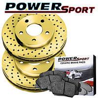 Комплект задний дисков и колодок PowerSport для Nissan Leaf 2011-2017, фото 1