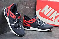 Кроссовки Nike мужские темно синие с красным ( реплика ААА+), фото 1