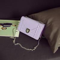 НОВИНКА! Стильная модная женская сумка Dior Diorama на цепочке лилового цвета