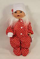 Зимний сдельный комбинезон, шапка, варежки для куклы Baby Born