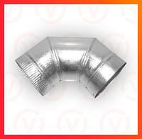 Колено 90° из оцинкованной стали , диаметр 100-300 мм