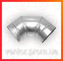 Коліно 90° з оцинкованої сталі , діаметр 100-200 мм