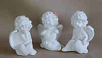 Ангелочек сидит с сердечком  (белый) 3 в асс