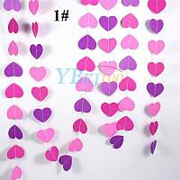 Гирлянда со сердечками для праздника 4 метра, микс 1