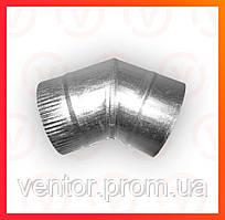 Колено 45° из оцинкованной стали , диаметр 100-200 мм