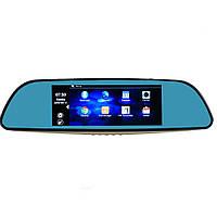 """Автомобильный видеорегистратор , зеркало D35  (LCD 7"""", GPS)"""