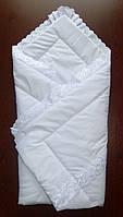 Конверт одеяло на выписку из роддома интернет-магазин Весна-Лето-Осень Белый