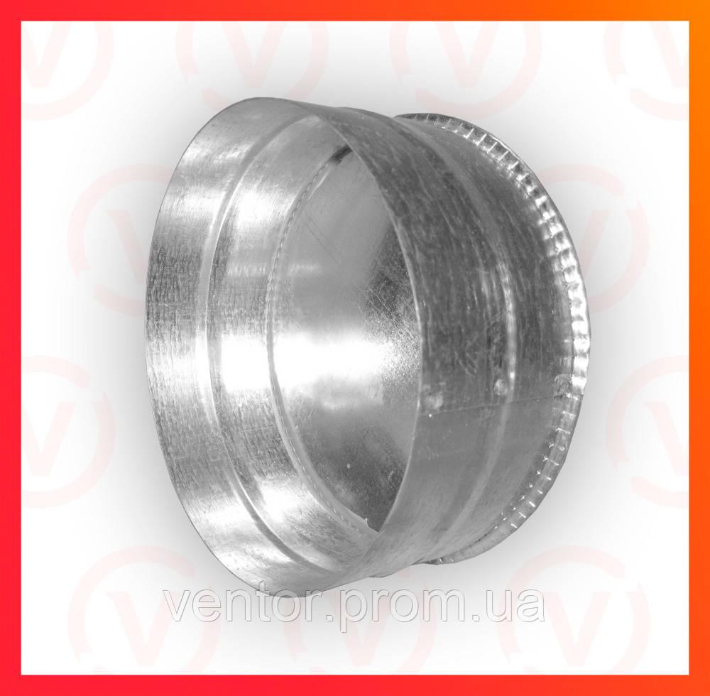 Ревизия (глушка) из оцинкованной стали, диаметр 100-300 мм