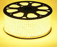 Светодиодная лента 220V SMD 2835 120LED IP68 Теплый белый, фото 1