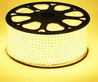 Светодиодная лента 220V SMD 2835 120LED IP68 Теплый белый