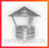 Вентиляційний Зонт з оцинкованої сталі, діаметр 100-300 мм
