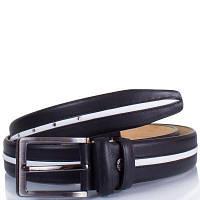Мужской кожаный ремень y.s.k. shi4033-black черно-белый