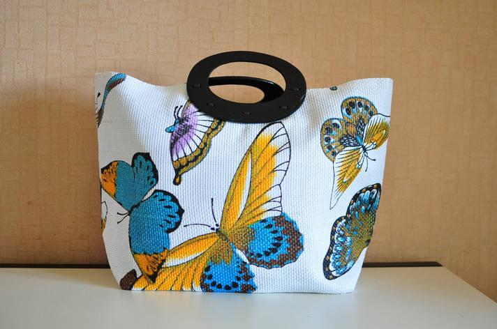Сумка летняя с бабочьками, фото 2
