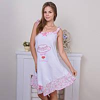 Женская ночная рубашка с узором Sentina Турция SNTN-G43 магазин ночных сорочек