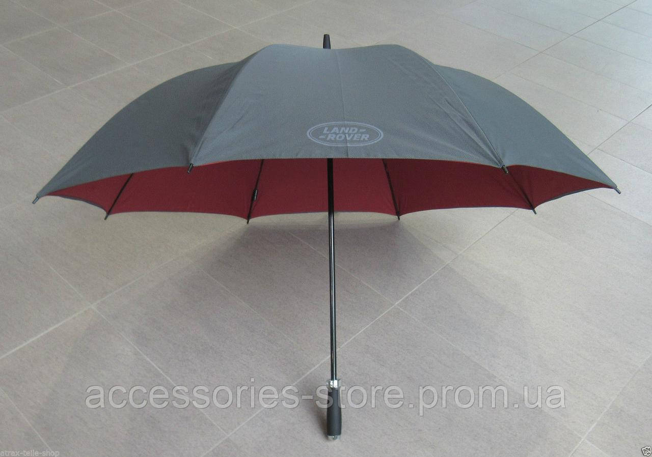 Мужской зонт-трость Land Rover Golf Umbrella Automatic, Black/Red