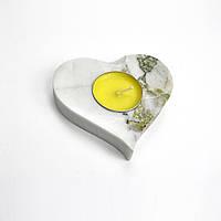 Подсвечник сердечко оникс