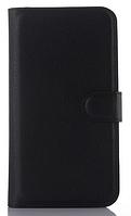 Кожаный чехол-книжка для ASUS ZenFone 2 Laser ZE500KL/ZE500KG черный