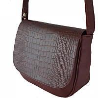 Женская сумка через плечо М52-38/37 бордовый