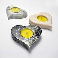 подсвечник сердечко мрамор