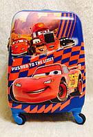 Чемодан детский дорожный качество эконом 4 колеса 45 см ручная кладь Тачки 0486-6