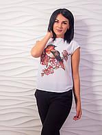 Красивая женская блуза с принтом p.42-48 VM2007-1