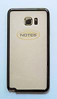 Чехол на Самсунг Galaxy Note 5 N920 тонкий Силикон Полупрозрачный Серый
