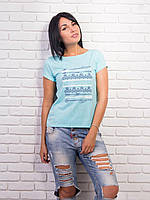 Стильная женская футболка супрем p.42-48 VM2001-1