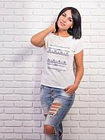 Стильная женская футболка супрем p.42-48 VM2001-2