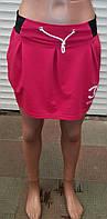 Трикотажная  женская молодёжная юбка-бочонок