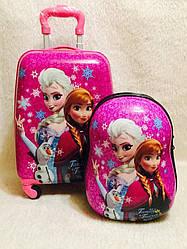 Набор для путешествия Чемодан и ранец дорожный детский Frozen+Ранец  Холодное Сердце 2855-1