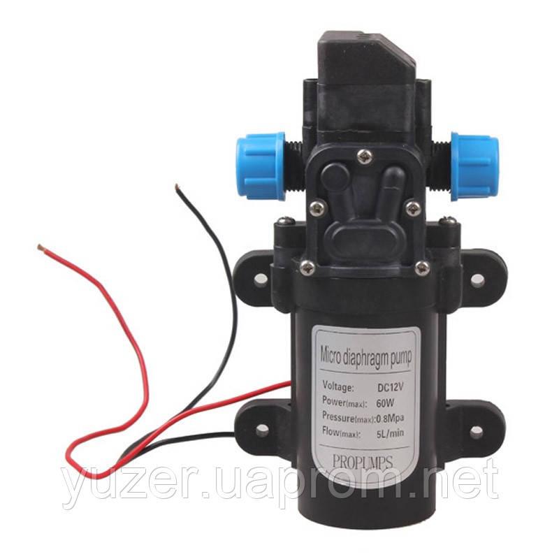 Мини водяной мембранный насос высокого давления 12 В 60 Вт 5L/min 0.8Mpa Model A