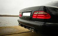 Накладка на задний бампер Mercedes W210, Диффузор заднего бампера Мерс 210, фото 1
