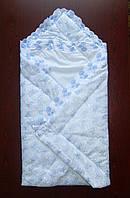 Конверт одеяло на выписку из роддома На крестины Весна-Лето-Осень, фото 1