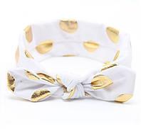 Солоха детская в крупный золотой горох на голову  для девочки.